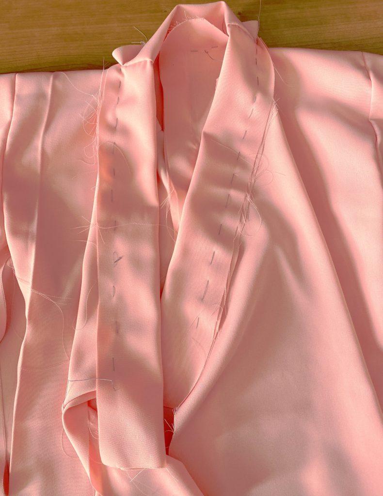 襟の仮縫い