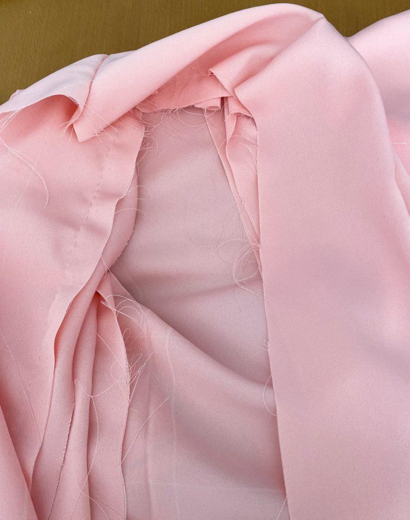 襟の外側本縫い